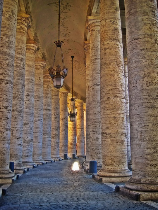 Bernini's Colonnade, St, Peter's Square, Rome, Italy