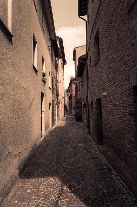 Alley, Sepia, Italy, Castello, Castle, Foresight