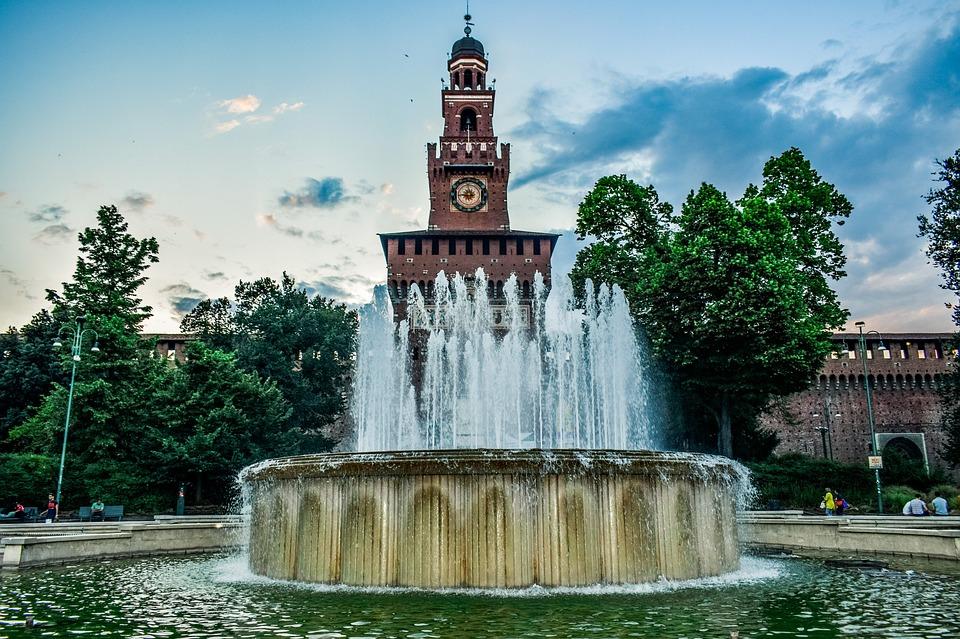 Italy, Milan, Castello Sforzesco, City, Attraction
