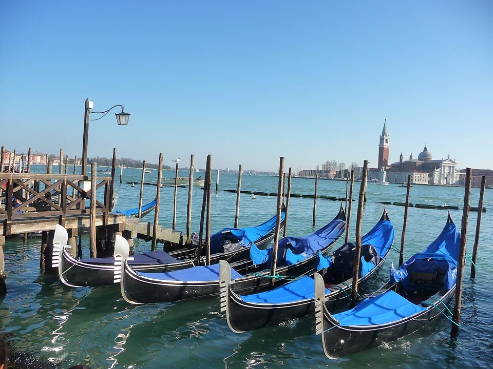 Venice, Lagoon, Italy, Gondolas, Channel