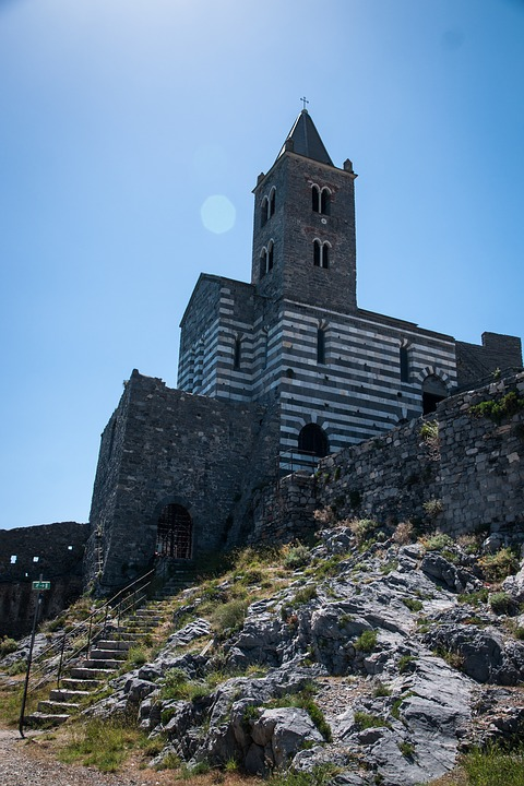 Church, Italy, Sky, Cinque Terre, Architecture