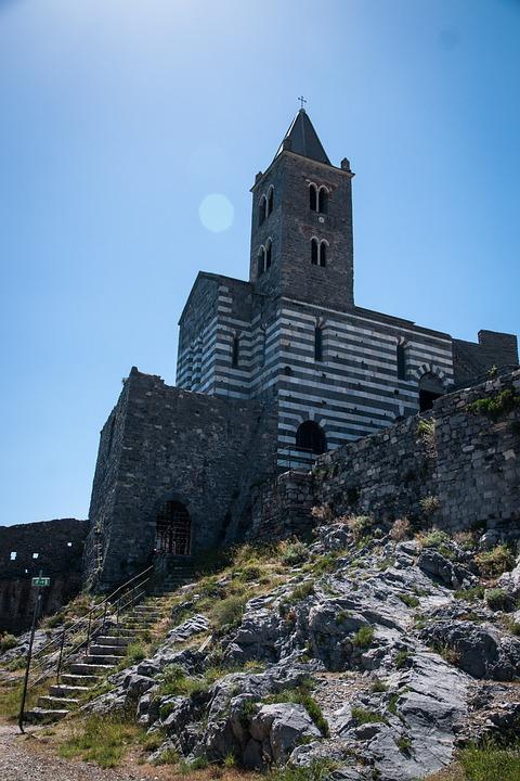 Church, Italy, Sky, Cinque Terre, Architecture