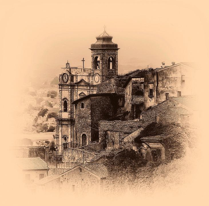 Church, Ancient, Lazio, Castrocielo, Italy, Monument