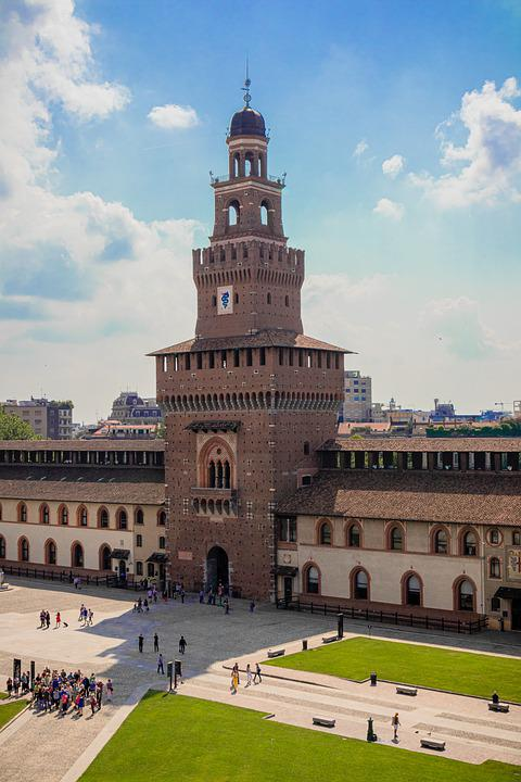 Milan, Castello Sforzesco, Italy, Architecture, City