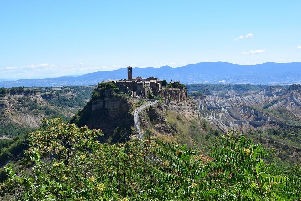 Civita Bagnoregio, Lazio, Italy, Landscape