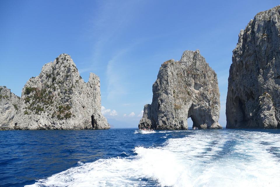 Capri, Italy, Coast, Mediterranean, Island, Vacations