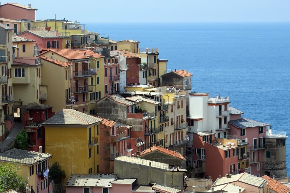Italy, Riviera, Coast, Town, Scenic, Mediterranean