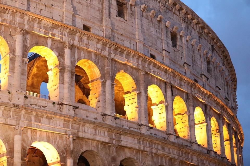 Rome, Colosseum, Roman, Italy, Architecture, Monument