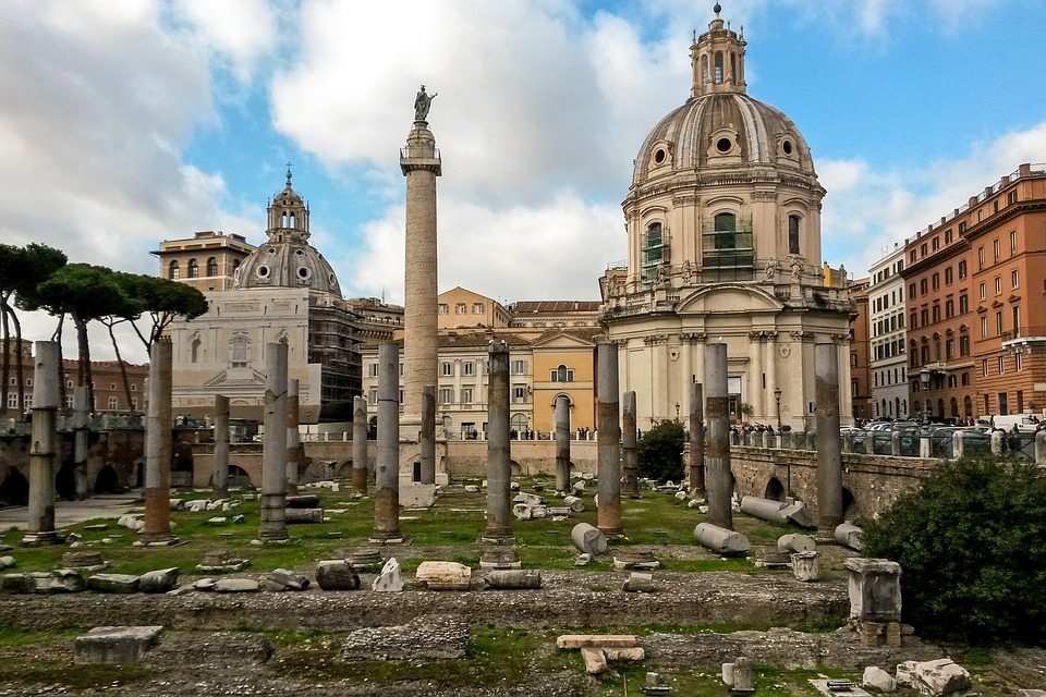Rome, The Forum Of Trajan, Column Of Trajan, Italy
