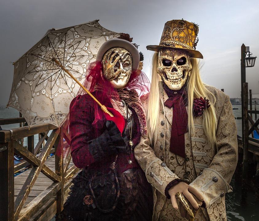 Carnival, Venice, Mask, Italy, Romantic, Costume