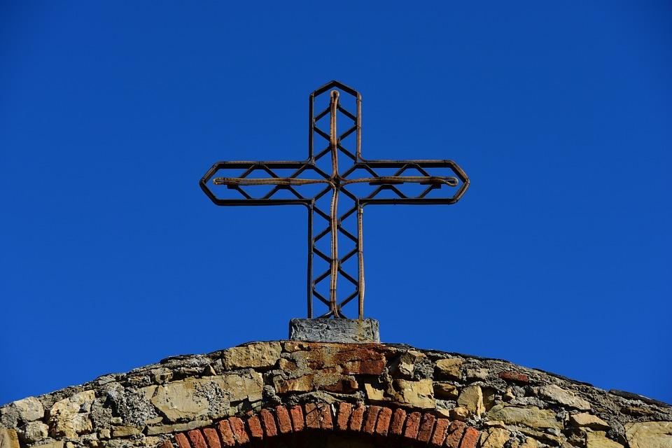 Cross, Sky, Blue, Italy, Crucifix, Religion, Summer