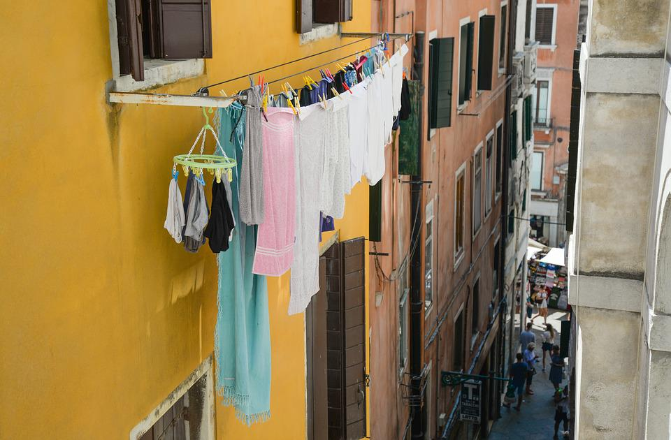Laundry, Hanging, Dry, Wash, Clothing, Hang, Italy
