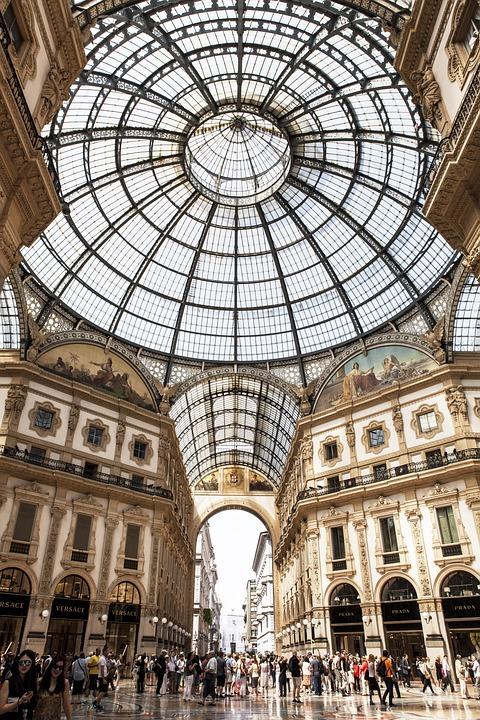 Europe, Italy, Shopping, Galleria Vittorio Emanuele Ii