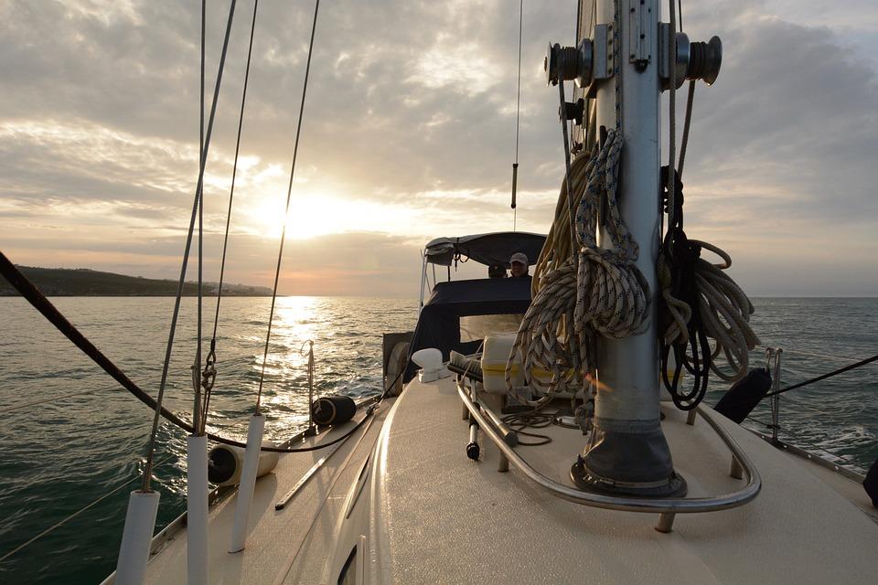 Sailing, Sailboat, Italy, Water, Boat, Evening, Calm