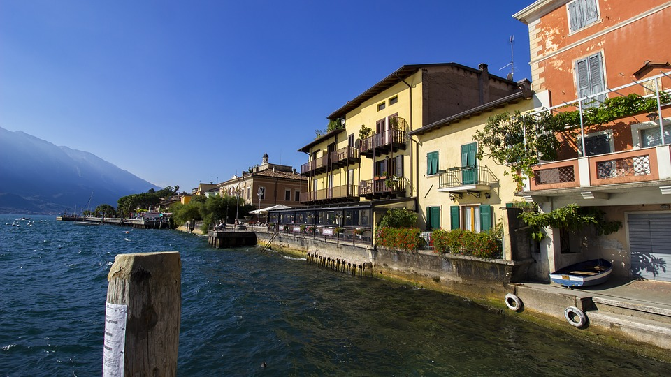 Limone, Garda, Italy, Port, Lake, West Bank, Place