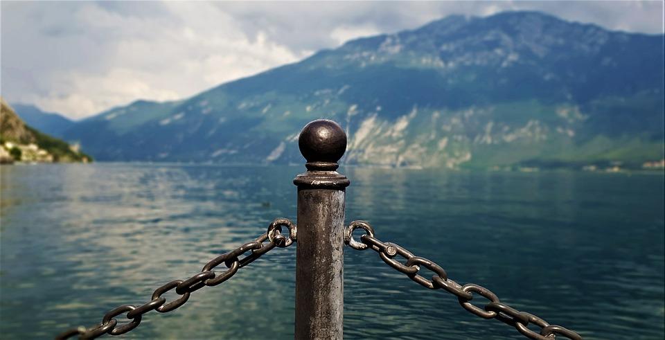 Garda, Post, Mountains, Italy, Old Town, Lake