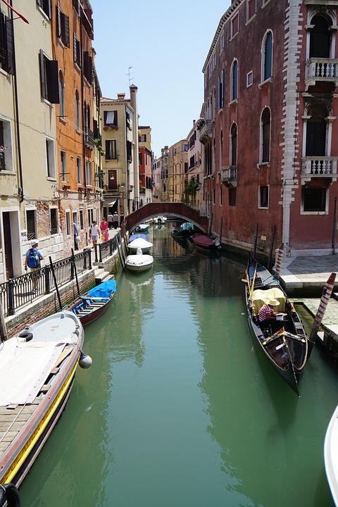 Venice, Gondola, Canal, Venetian, Vacation, Italy