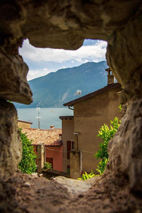 Garda, Panorama, Italy, Lake, Mountains, Holiday
