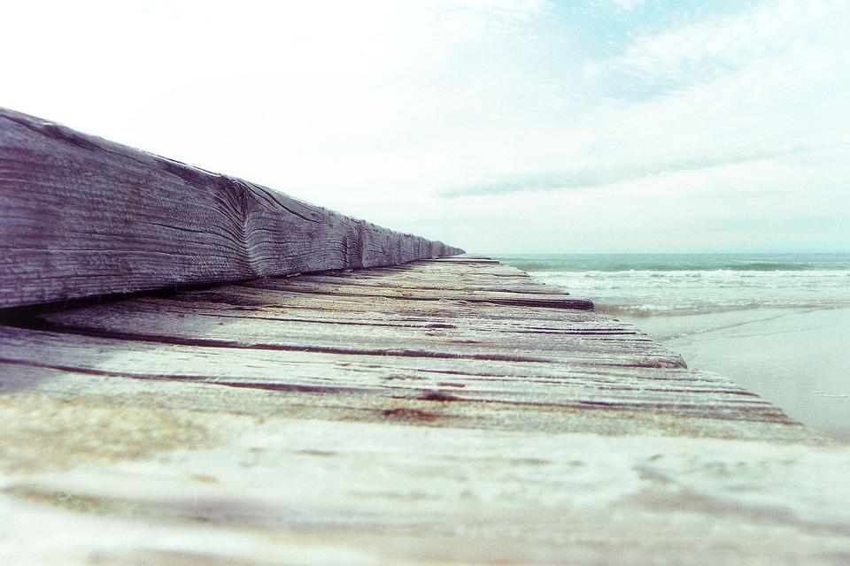 Jesolo, Venice, Veneto, Italy, Jetty, Beach, Holidays