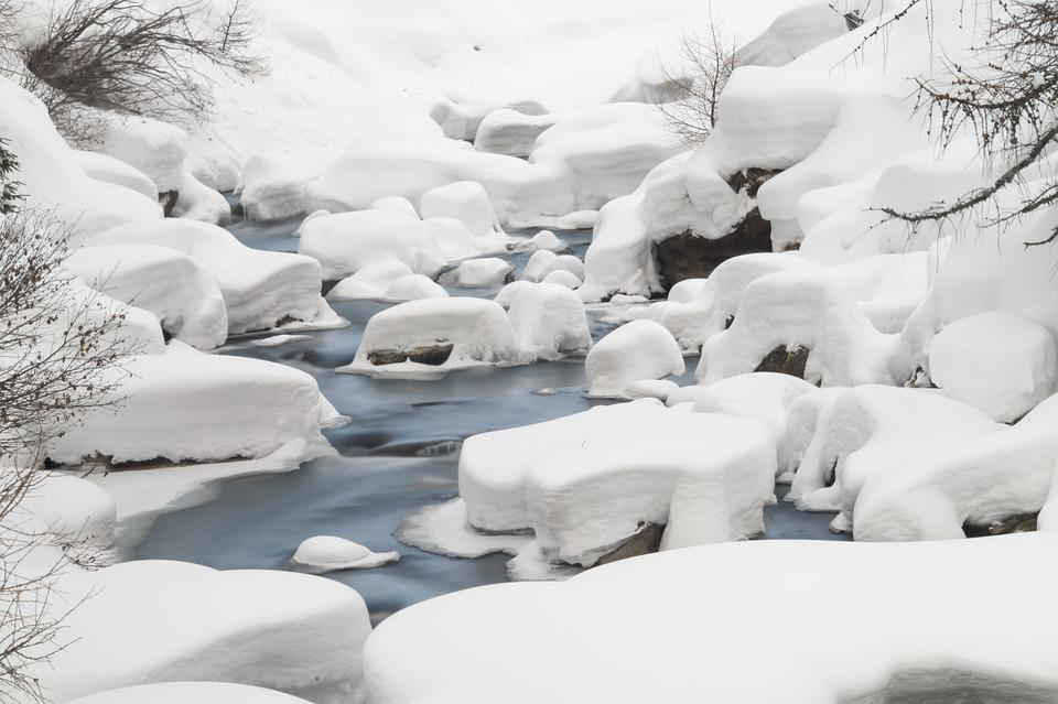 Ahr, River, Ice, Nature, Landscape, Snow, Winter, Italy