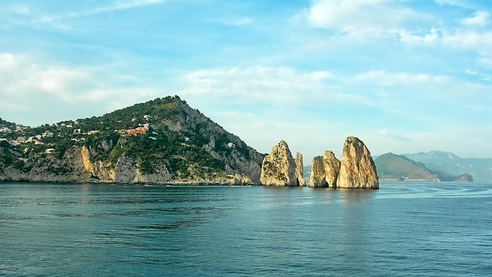 Capri, Ocean, Italy, Sea, Ile, Rocks