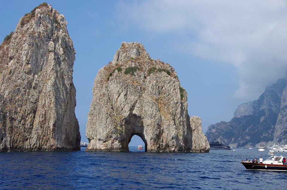 Italy, Capri, Islands, Island Breakthrough, Faraglioni