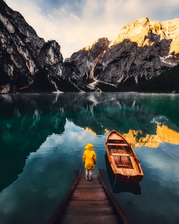Italy, Mountains, Boat, Lake, Water, Reflections