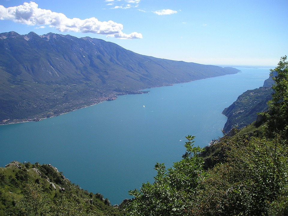 Garda, Italy, View, Tremalzo, Lake, Blue