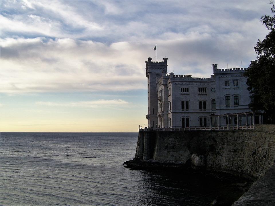 Trieste, Miramare Castle, Sea, Landscape, Italy