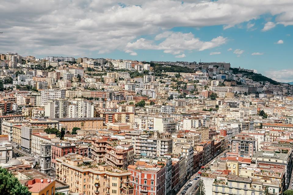 Naples, Panorama, Italy, Mountain, Sea, Landscape