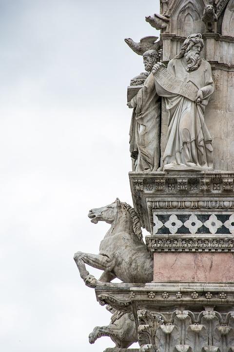 Statue, Italy, Sculpture, Architecture, Monument