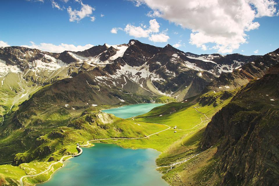 Ceresole, Lake, Italy, Landscape, Mountains, Alps