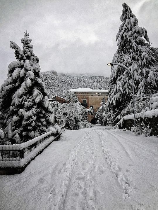 Snow, Castrocielo, Winter, Italy, Mountains, Lazio