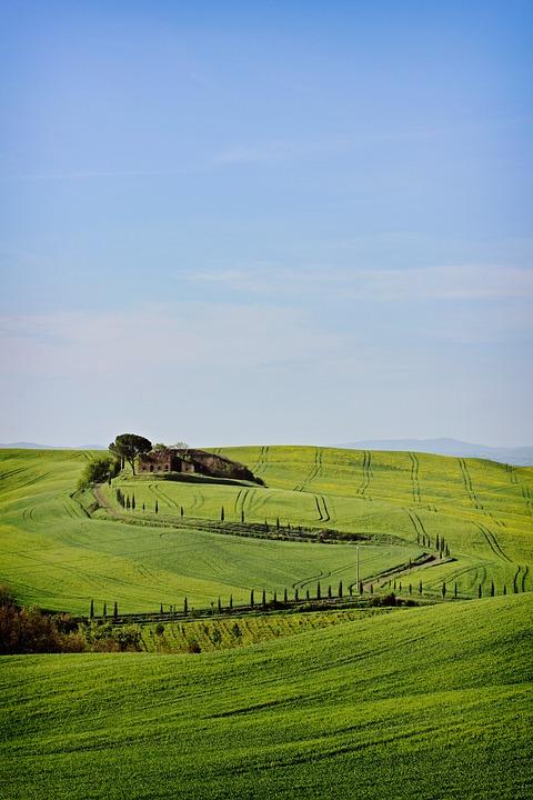 Tuscany, Landscape, Italy, Nature, Tourism, Sky, Summer