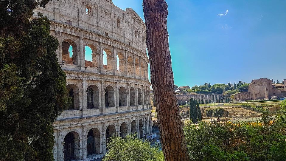 Rome, Coliseum, Italy, Novel