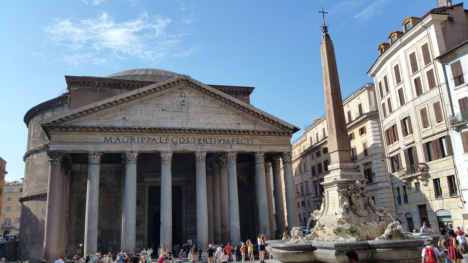 Pantheon, Rome, Italy, Monument, Rotunda, Obelisk