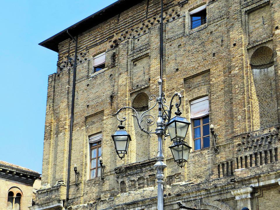 Italy, Parma, Place, Ducal Palace, Floor Lamp