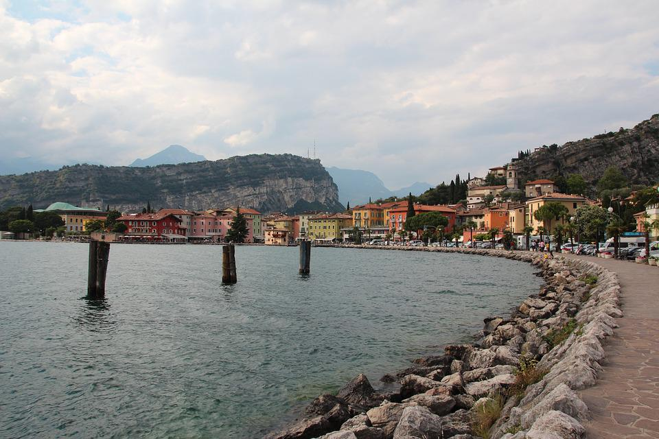Promenade, Italy, Torbole, Walk, Garda, Summer