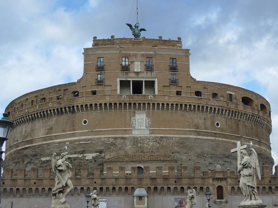 Italy, Rome, Castel Sant'angelo, Antique, Building