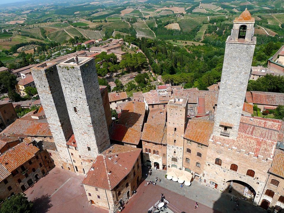 Tuscany, Italy, San Gimignano, Tuscan Small Town
