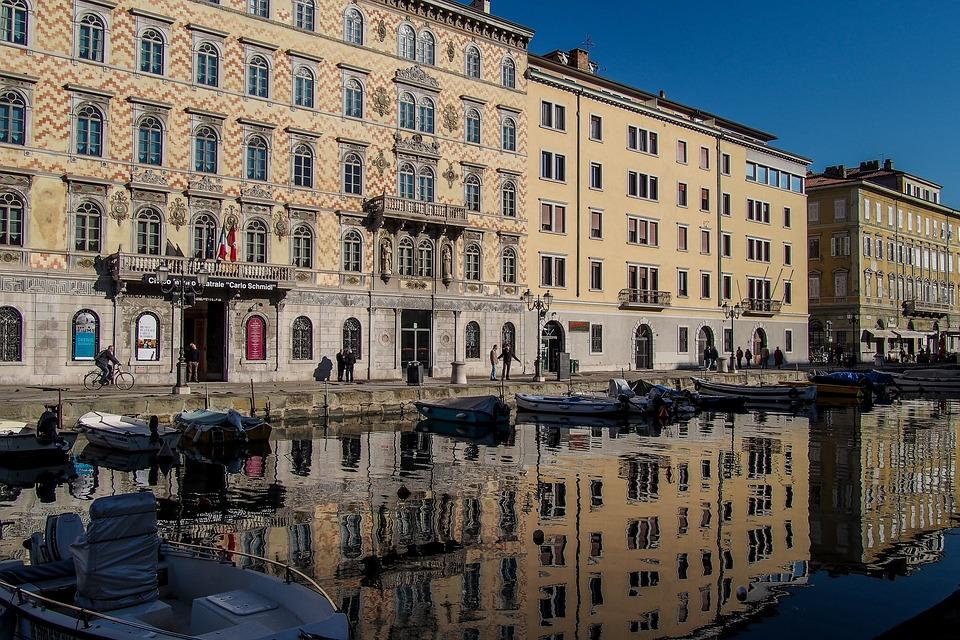 Trieste, Canal, Sea, Blue, Sky, Water, Landscape, Italy