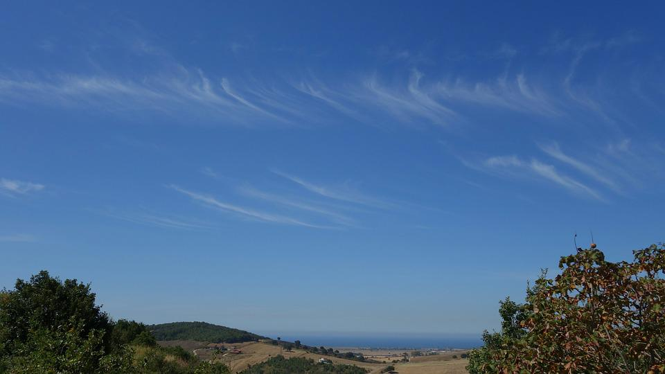 Cirrus, Clouds, Sky, Sea, Italy, Summer, Heat