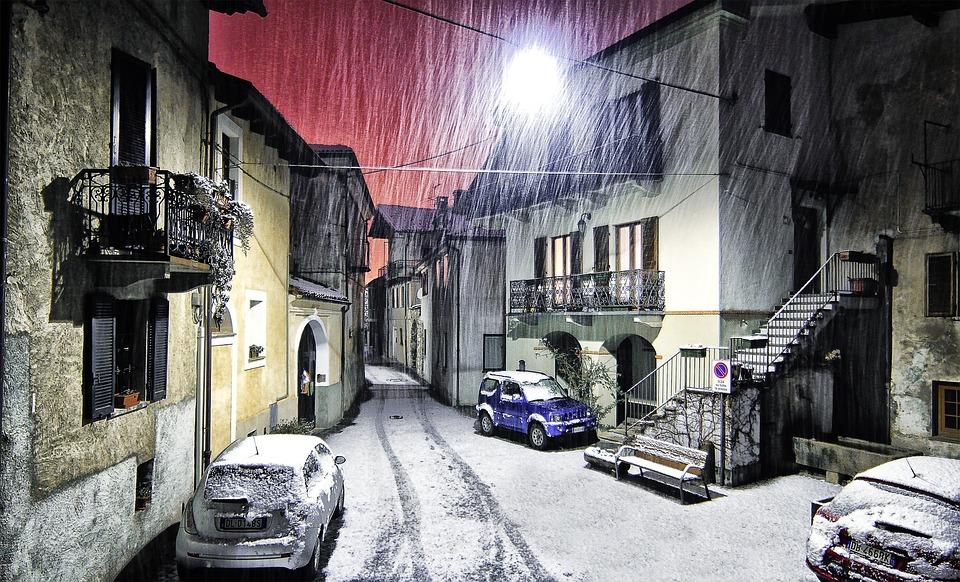 Montestrutto, Snow, Piemonte, Italy, Winter, Village