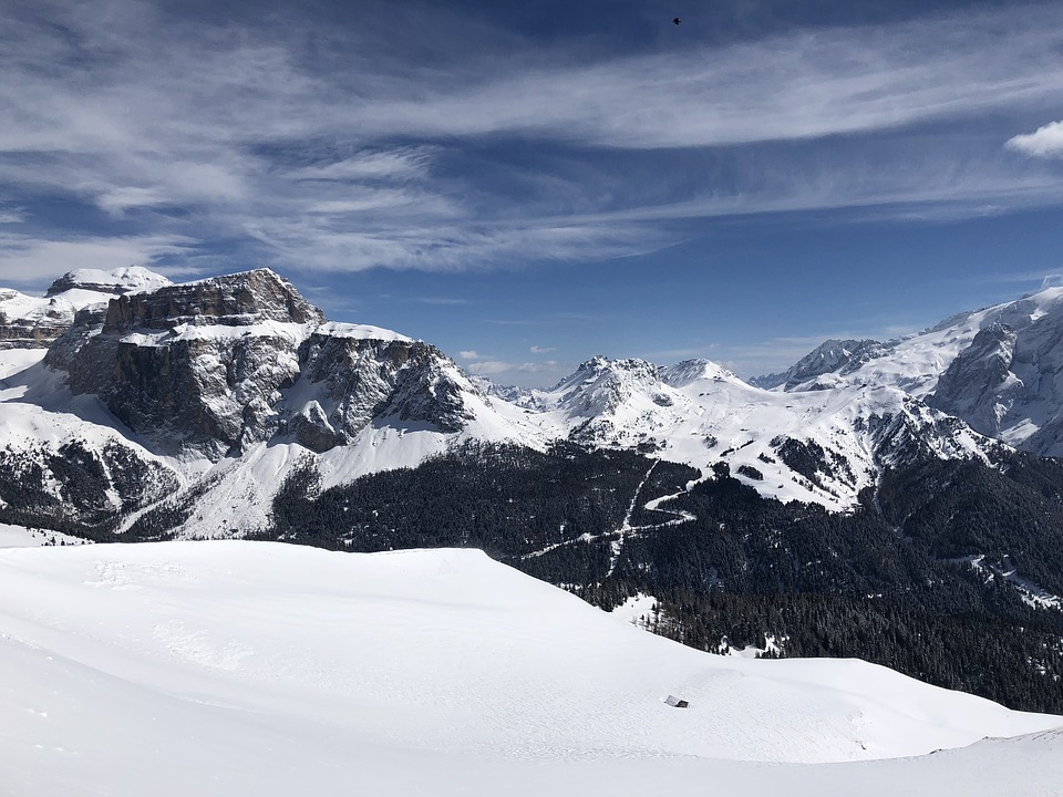 Snow, Mountain, Winter, Mountain Peak, Panoramic, Italy
