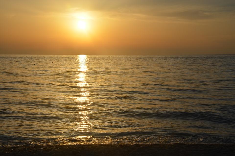 Sun Sunset, Summer, Italy