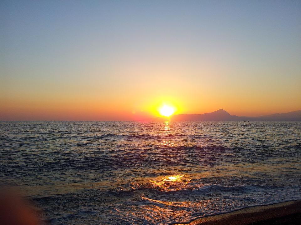 Sea, Italy, Basilicata, Sunset