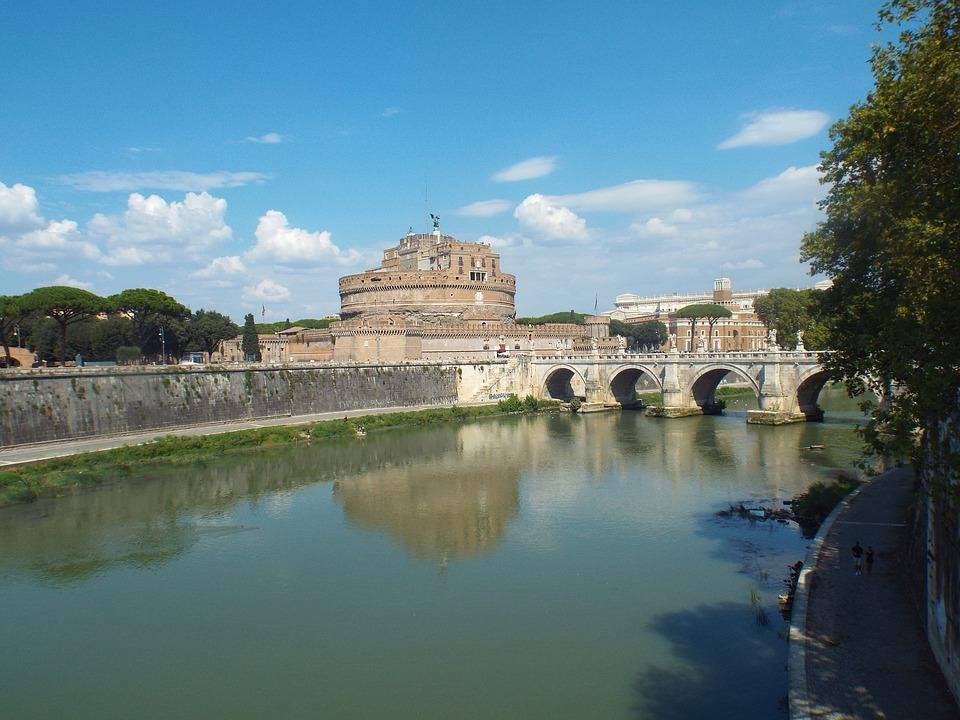 Rome, Tiber, Castel Sant'angelo, Bridge, Italy