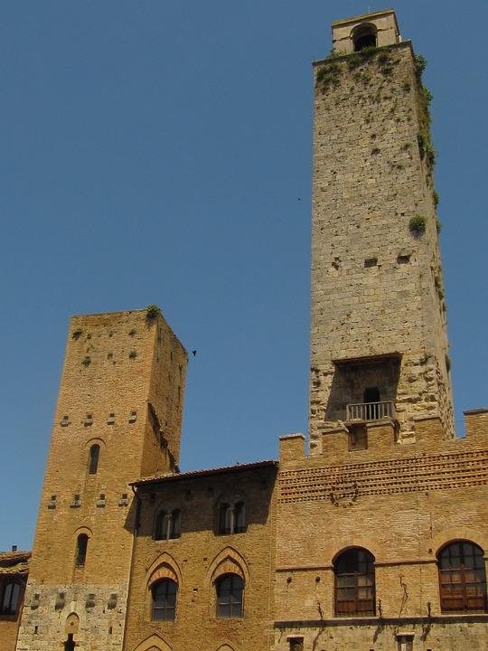 Towers, San Gimignano, Tuscany, Historically, Italy
