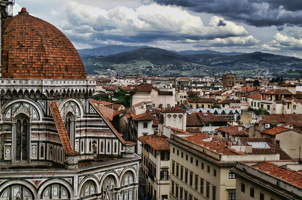 Italy, Tuscany, Florence, Sky, Clouds, Panorama, Towers