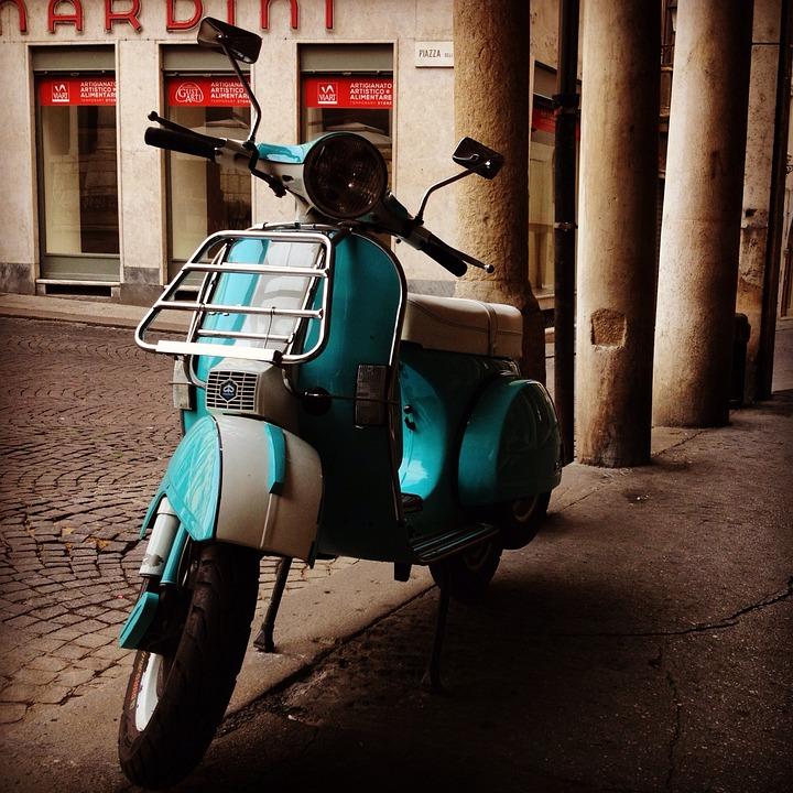 Vespa, Italy, Scooter, Retro, Vintage, Rome, Travel
